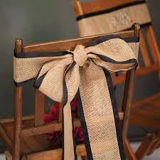 burlap chair sashes mr and mrs burlap chair sashes smarty had a party