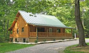 simple front porch log cabin with wrap around porch log log home
