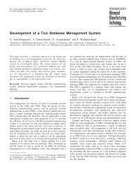 development of a tool database management system pdf download
