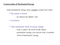 5 conservation of mechanical
