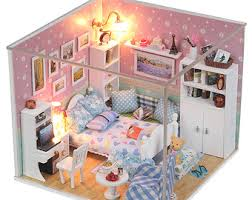 diy glass villa miniature kit handmade dollhouse handcraft kit