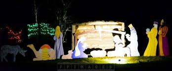 Nativity Outdoor Decorations Enjoy Christmas Lights Holiday Decorations At Saint Andrews Nb