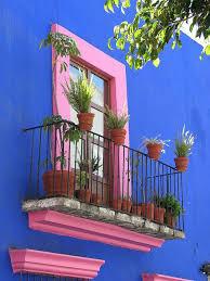mexico color balconies doors and haciendas