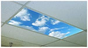 fluffy clouds overhead light cover turn fluorescent lights into