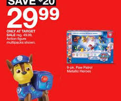 super target black friday sale 9 pk paw patrol metallic heroes deal at target black friday sale