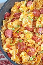 pasta recepies one pot kielbasa pasta sugar apron