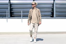 trend colors combining neutral colors bomber parka chinos u0026 hi tops