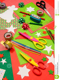 arts and craft supplies for christmas stock photo image 63575143