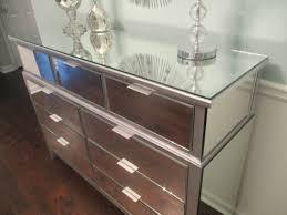 Mirror Dressers Metallic Silver Mirrored Dresser Or Buffet Sleek Modern