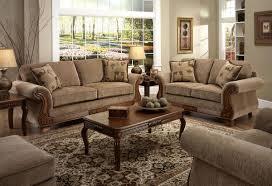 Fabric Living Room Furniture by Tan Fabric Traditional Sofa U0026 Loveseat Set W Optional Items