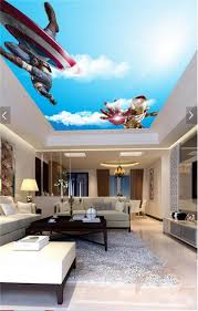 popular 3d wall murals wallpaper iron man buy cheap 3d wall murals 3d room wallpaper custom murals non woven wall sticker sky iron man captain america picture