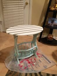 Refurbished End Tables by Painted Vintage Side Table With Magazine Rack Storage In Home
