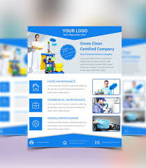 commercial cleaning brochure templates free cleaning service psd flyer template downl and housekeeping