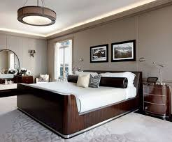 masculine bedroom design elegant looks black pattern bed runner