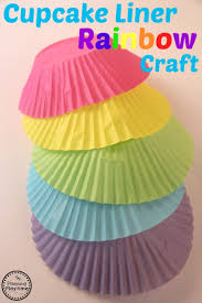 cupcake liner rainbow craft for kids planning playtime