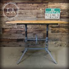 Drafting Table Height by Vintage Industrial Adjustable Height Work Drafting Art Table Cast