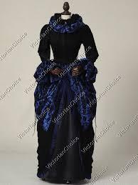 Steampunk Halloween Costume Victorian Regal Queen Brocade Velvet Dress Witch Ghost Steampunk