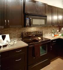 glass tile backsplash with dark cabinets backsplash kitchen backsplash dark cabinets kitchen backsplash