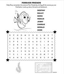 free finding dory activity sheets print at home mommy mafia
