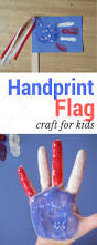 be brave keep going kid craft handprint american flag