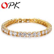 bridal bracelet gold images Opk luxury wedding bridal jewelry women 39 s zircon crystal bracelet jpg