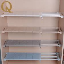Telescopic Bathroom Shelves Big Sale Wardrobe Storage Shelf Cabinet Layered Partition Board