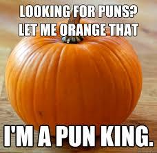 Meme Pun - looking for puns let me orange that i m a pun king pun king