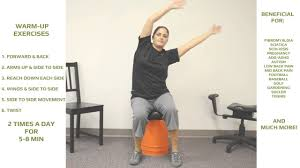 how to use the portable wobble chair for lower back pain youtube