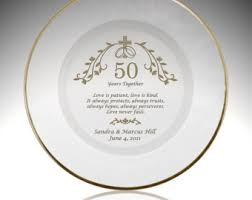 50th anniversary plates you can engrave engraved 25th silver wedding anniversary plate