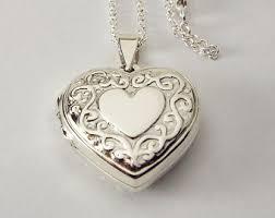 personalized heart locket engraved locket etsy