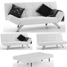 Black Leather Sofa Bed White Faux Leather 2 Seater Sofa Bed Centerfordemocracy Org