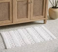 Bathroom Rugs And Mats Bath Rugs Mats Pottery Barn