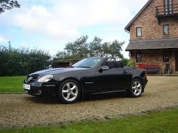 mercedes slk 200 convertible black manual 6 speed 78k miles 3