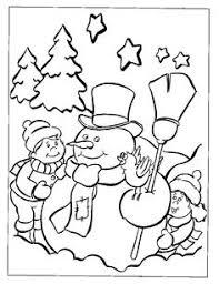 print coloring image snowman free printable printable