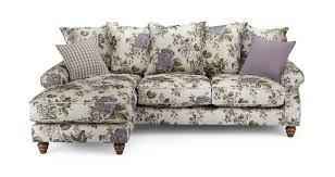 Floral Chaise Ellie Floral Left Hand Facing 4 Seater Chaise End Sofa Ellie