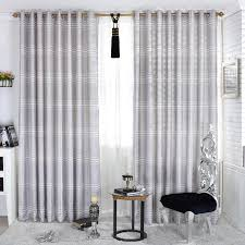 Grey And White Striped Curtains Striped Grey Lineated Cotton And Poly Curtains Buy Grey