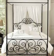 Iron Canopy Bed Wrought Iron Canopy Bed Sheer Curtains Iron Canopy Bed And Canopy