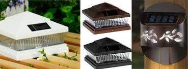 Solar Light For Fence Post - solar deck lights solar fence post lights 6x6 inch posts