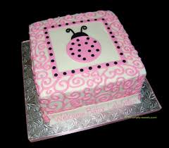 pink and black ladybug themed baby shower cake read more a u2026 flickr