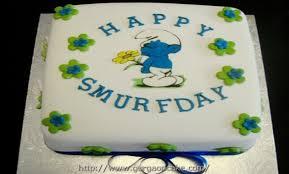 smurf birthday cake photos 1121