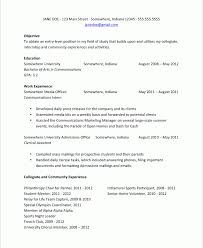 Resume Examples For College Students Internships Resume For Internship College Student Resume Ideas
