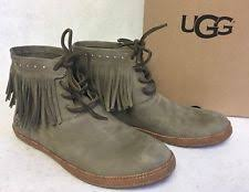 s ugg australia nubuck boots ugg australia leather lace up ankle boots for ebay