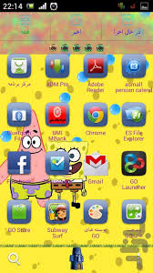 go launcher themes spongebob spongebob theme download install android apps cafe bazaar