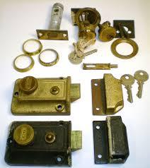 Antique Door Hardware Vintage Yale Deadbolt Locks 042 Cylindar Locks Door Hardware Keys