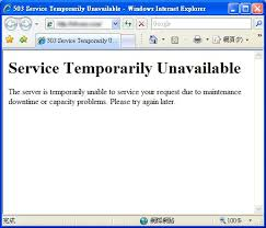 503 Service Temporary Unavailable by Windows And Android Free Downloads Service Temporarily Unavailable