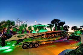 monster energy drink boat wrap russ wood awesomeweb