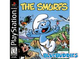 sony playstation smurfs smurfs smurfs game art