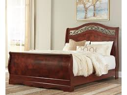Sleigh Bed Pictures by Ashley Signature Design Delianna Traditional Queen Sleigh Bed