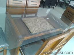 Dining Table  Chair Malaysian Model Brand Home Office - Glass top dining table hyderabad