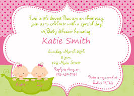 Baby Shower Invitation Card Baby Shower Invitations Twins Theruntime Com